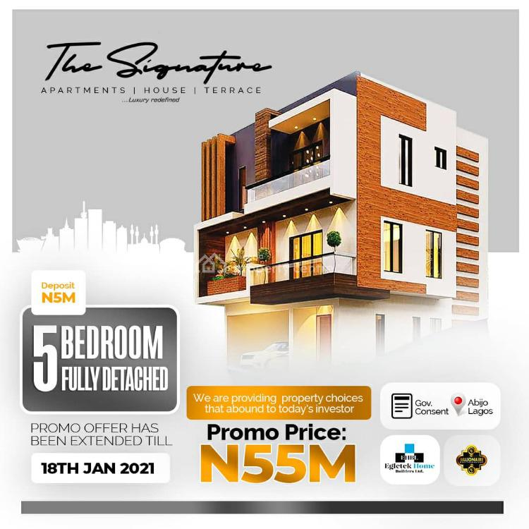 New 5 Bedroom Fully Detached House, The Signature Apartment, Abijo, Lekki, Lagos, Detached Duplex for Sale