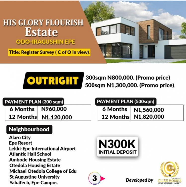 Dry Land in a Serene Environment, Behind Yaba Tech Extension, Epe, Lagos, Mixed-use Land for Sale