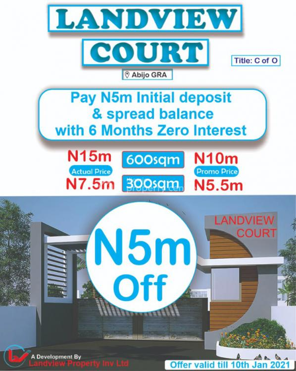 Land View Court, Abijo, Lekki, Lagos, Residential Land for Sale