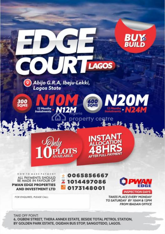 Buy and Build Allocation After 24hrs of Full Payment, Edge Court, Abijo, Lekki, Lagos, Residential Land for Sale