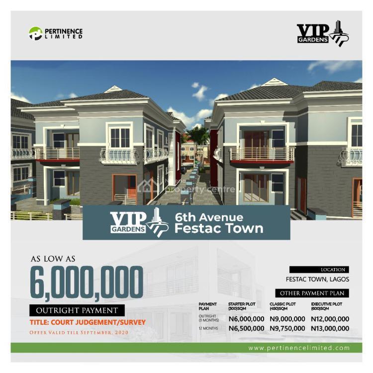 Court Judgement/ Survey, 6th Avenue, Festac Town, Festac, Amuwo Odofin, Lagos, Land for Sale