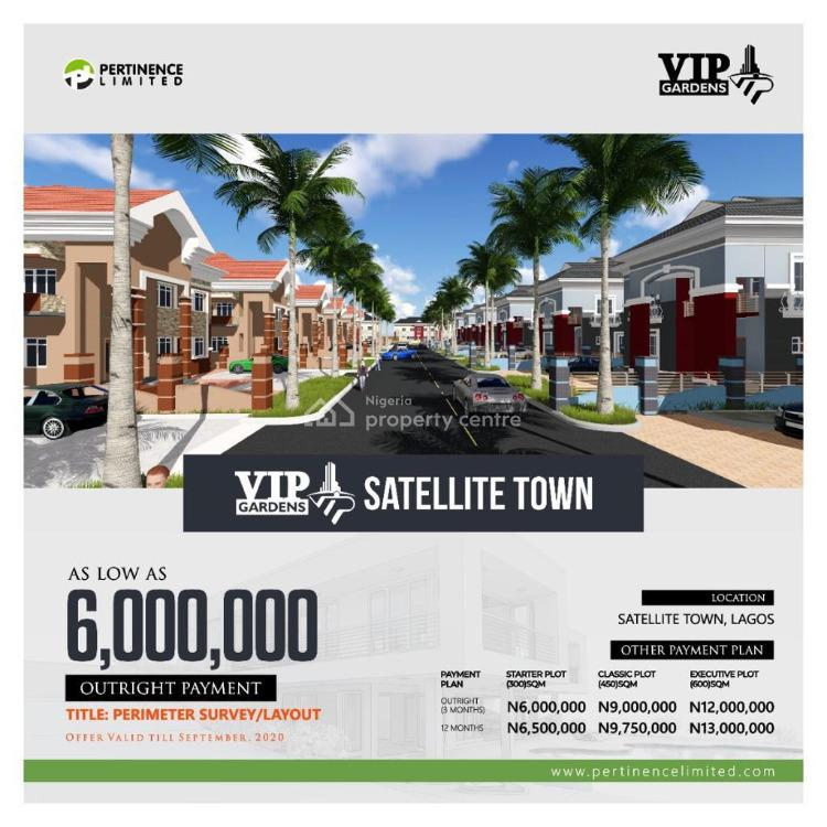 Perimeter Survey/ Layout, Vip Gardens Satellite Town, Satellite Town, Ojo, Lagos, Land for Sale