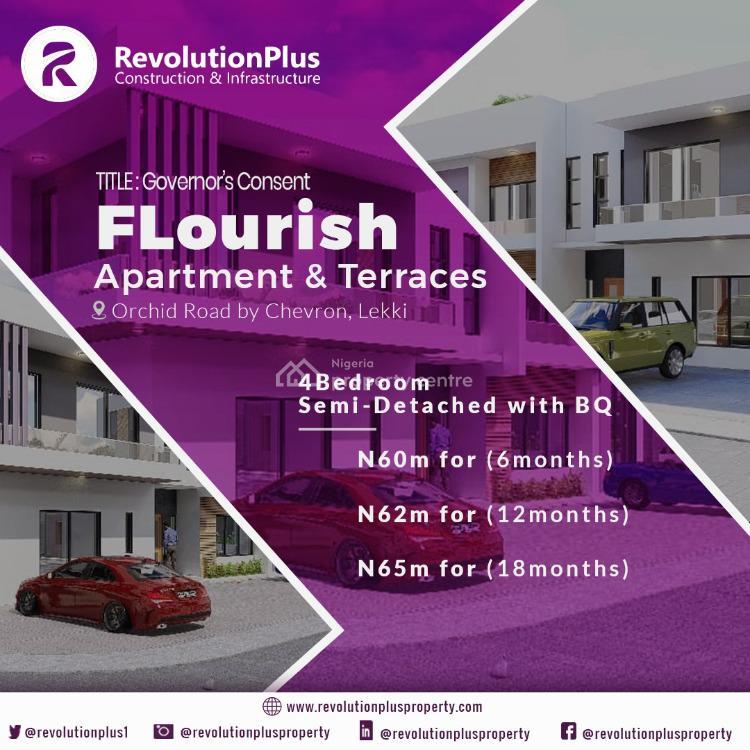 Luxury 4 Bedroom Semi Detached Duplex in Good Location, Flourish Residences, Orchid Road, Chevron Toll Gate, Ikota, Lekki, Lagos, Semi-detached Duplex for Sale