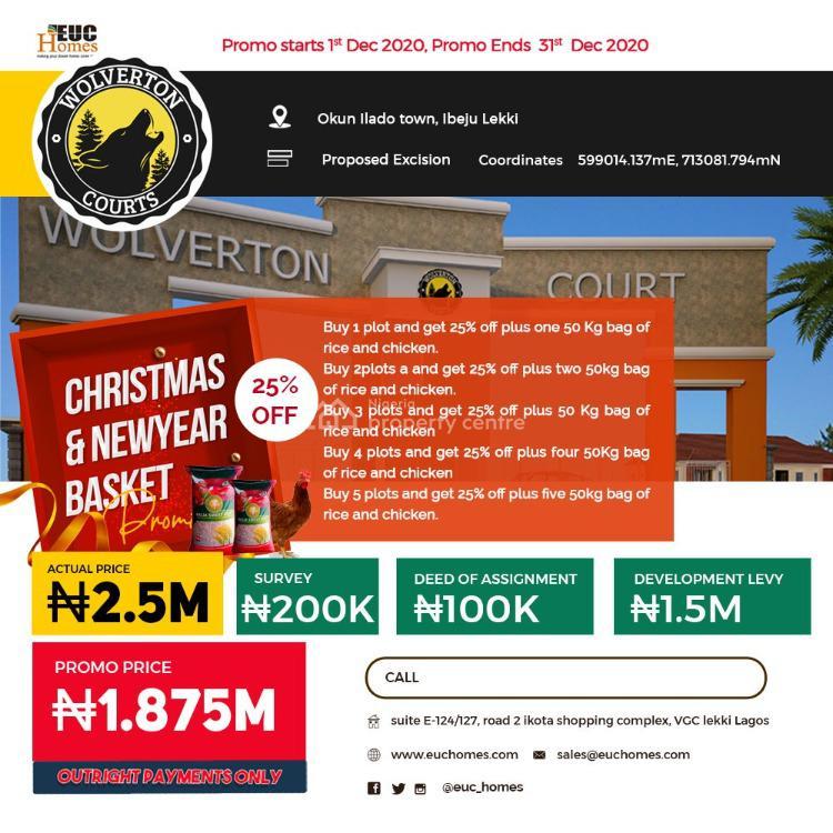 Plots of Estate Land in Prime Location, Wolverton Courts, Eleranigbe, Ibeju Lekki, Lagos, Residential Land for Sale