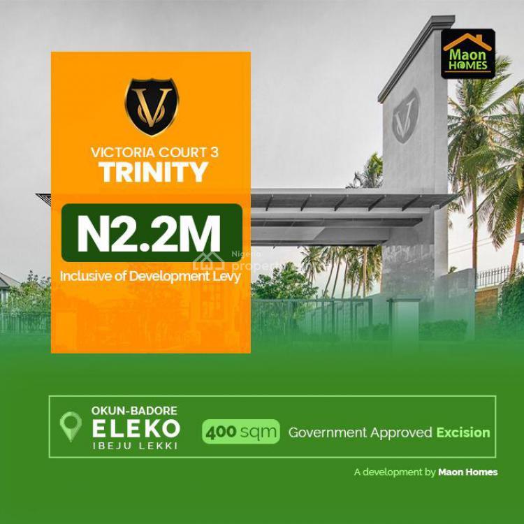 Land, Victoria Court Iii (trinity), Badore, Ibeju Lekki, Lagos, Residential Land for Sale