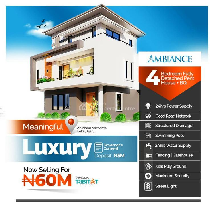 4 Bedroom Luxury Fully Detached Duplex, Atlantic Layout Estate,lekki Garden Phase 4 Road, General Paint Bus-st, Ajah, Lagos, Detached Duplex for Sale