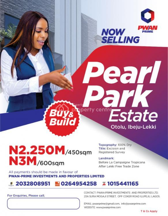 Registered Survey and Deed of Assignment, Pearl Park Estate Otolu, Ibeju Lekki, Lagos, Mixed-use Land for Sale