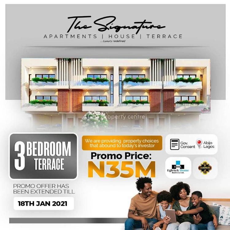 Luxury Apartments, The Signature Estate, Abijo Off Lekki Epe Expressway, Abijo, Lekki, Lagos, Terraced Duplex for Sale