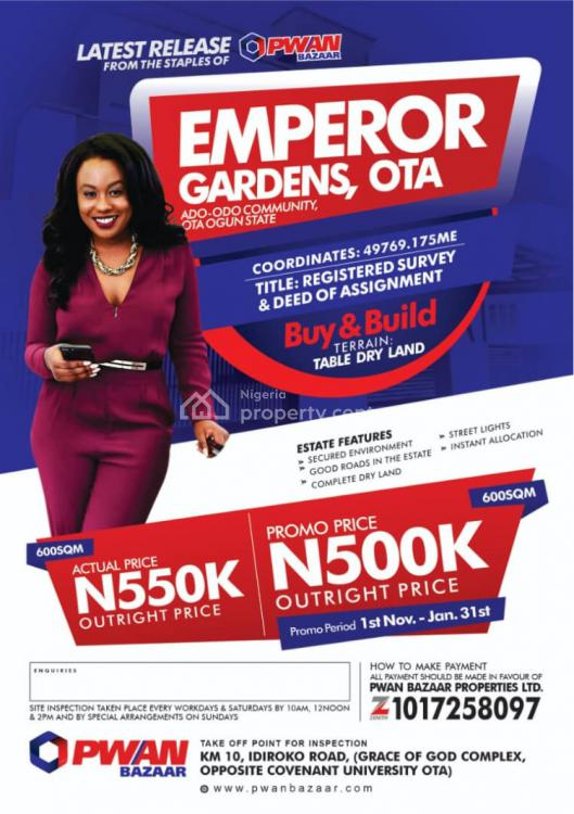 Registered Survey and Deed of Assignment, Emperor Estate, Ado-odo/ota, Ogun, Mixed-use Land for Sale
