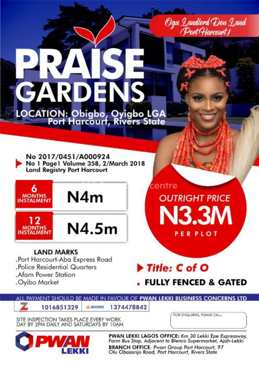 C of O, Praise Gardens, Oyigbo, Rivers, Mixed-use Land for Sale
