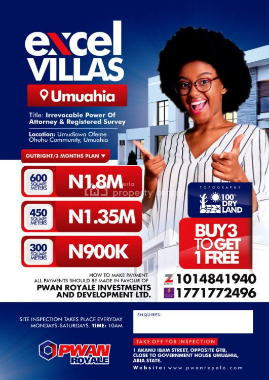 Irrevocable Power of Attorney and Registered Survey, Excel Villas, Umuahia, Abia, Mixed-use Land for Sale
