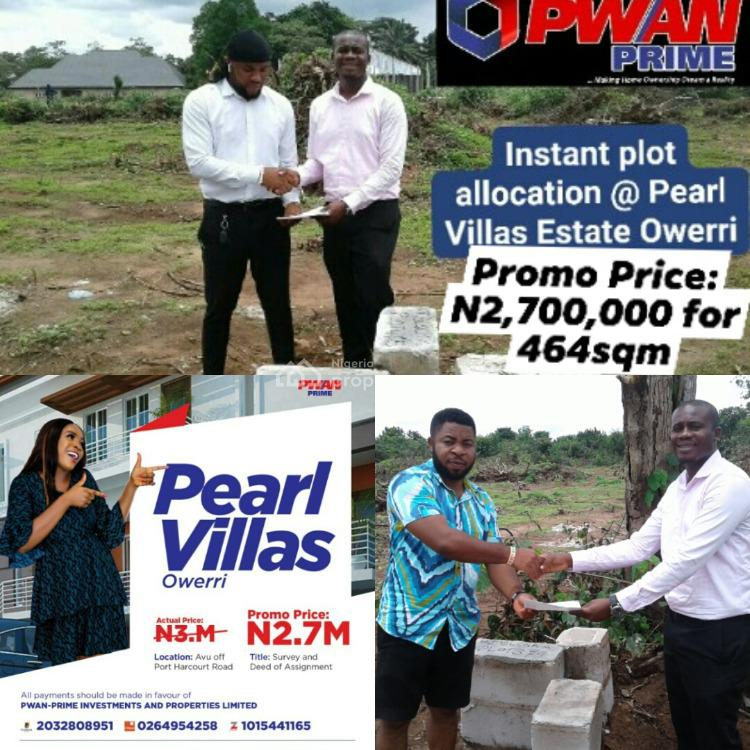 Registered Survey and Deed of Assignment, Pearl Villas, Owerri Municipal, Imo, Mixed-use Land for Sale