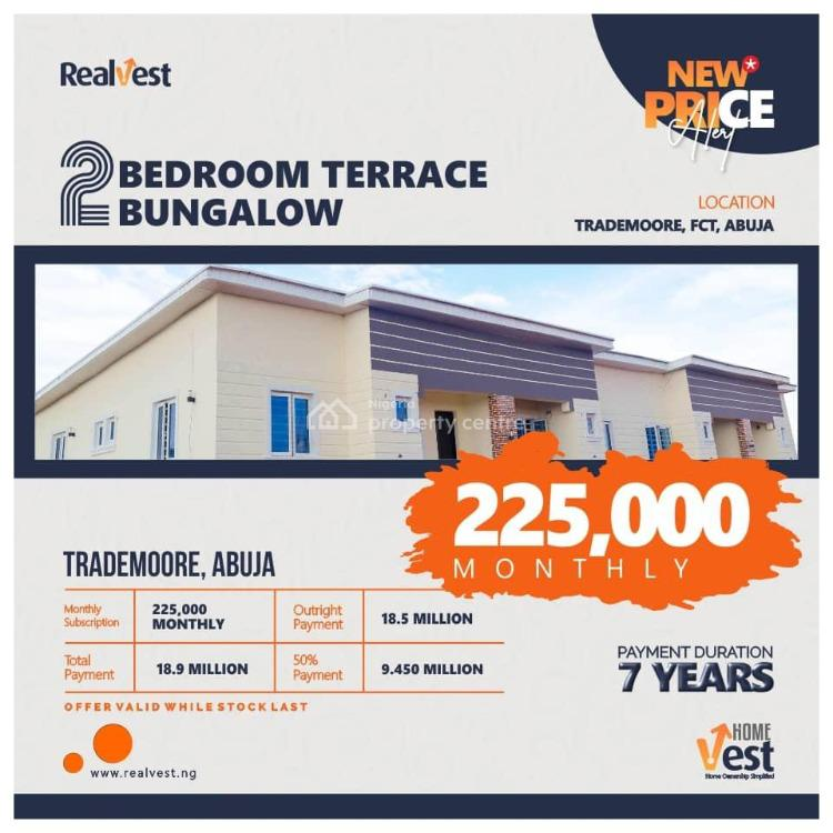 2 Bedroom Terraced Bungalow, Trademoore, Fct, Lugbe District, Abuja, Terraced Bungalow for Sale