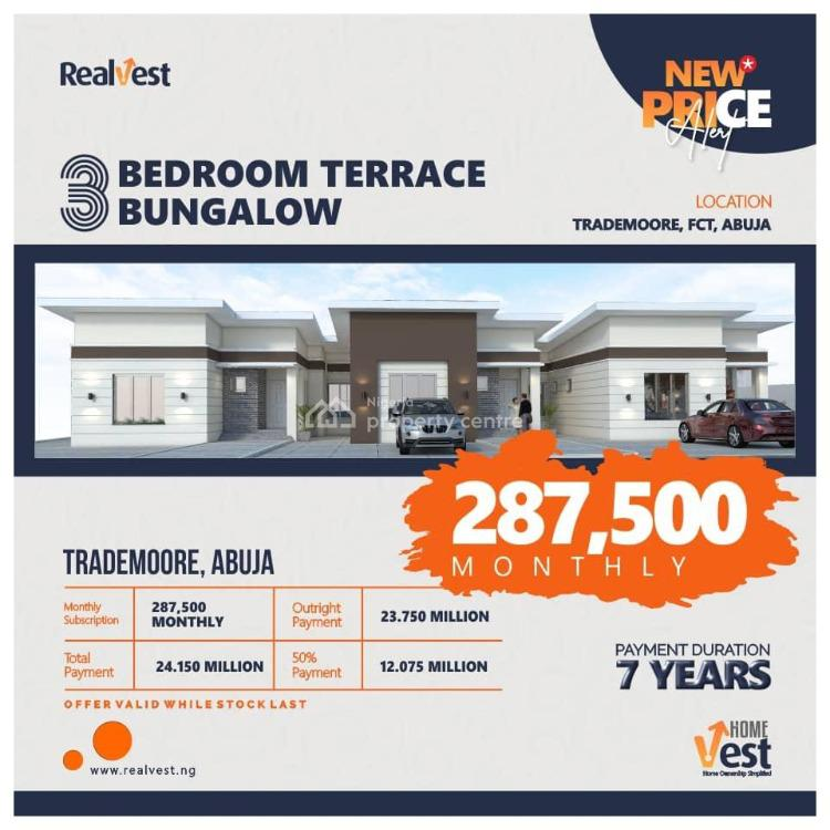 3 Bedroom Terraced Bungalow, Trade Moore, Fct, Lugbe District, Abuja, Terraced Bungalow for Sale