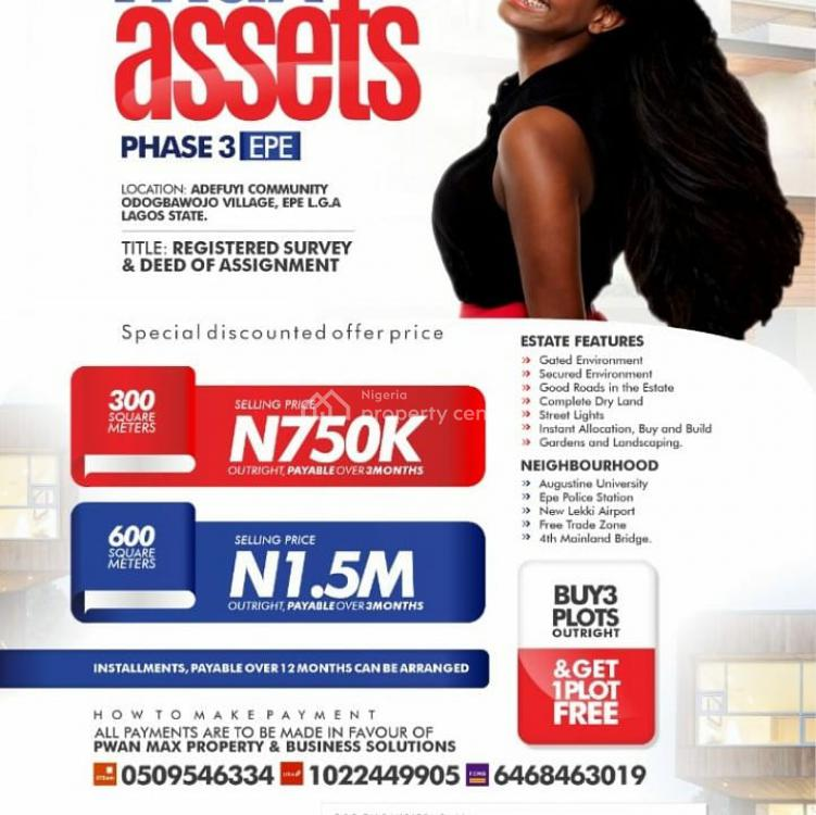 Registered Survey and Deed of Assignment, Max  Asset 3, Epe, Lagos, Mixed-use Land for Sale