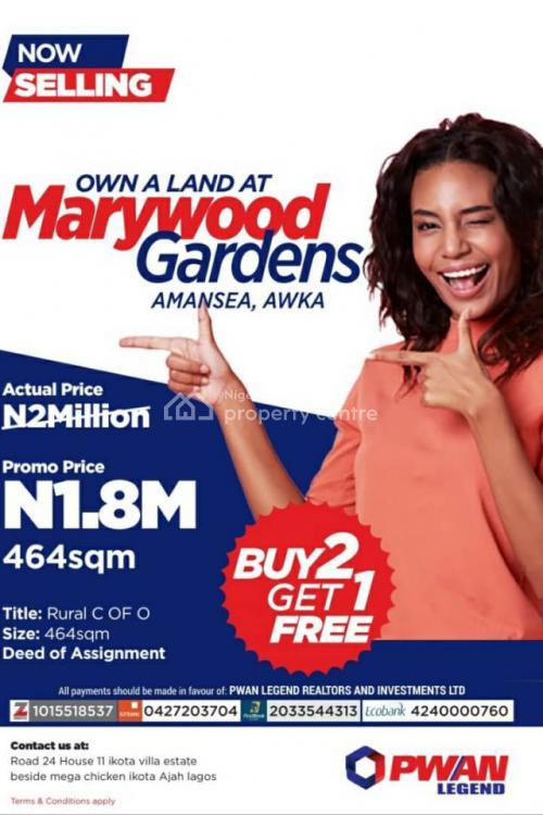 C of O, Marywood Gardens, Awka, Anambra, Mixed-use Land for Sale