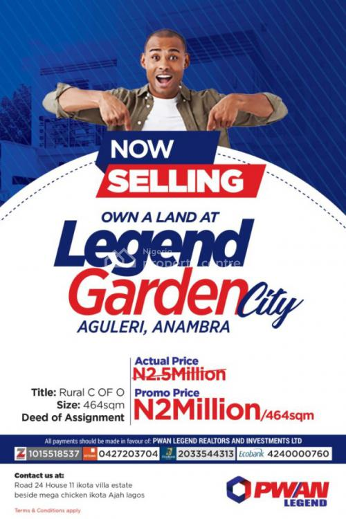 C of O, Legend Gardens, Aguleri, Anambra, Mixed-use Land for Sale