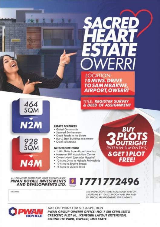 Registered Survey and Deed of Assignment, Sacred Heart Estate, Owerri Municipal, Imo, Mixed-use Land for Sale