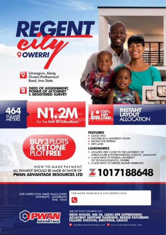 Deed of Assignment and Power of Attorney and Registered Survey, Regent City, Umuguma, Owerri Municipal, Imo, Mixed-use Land for Sale