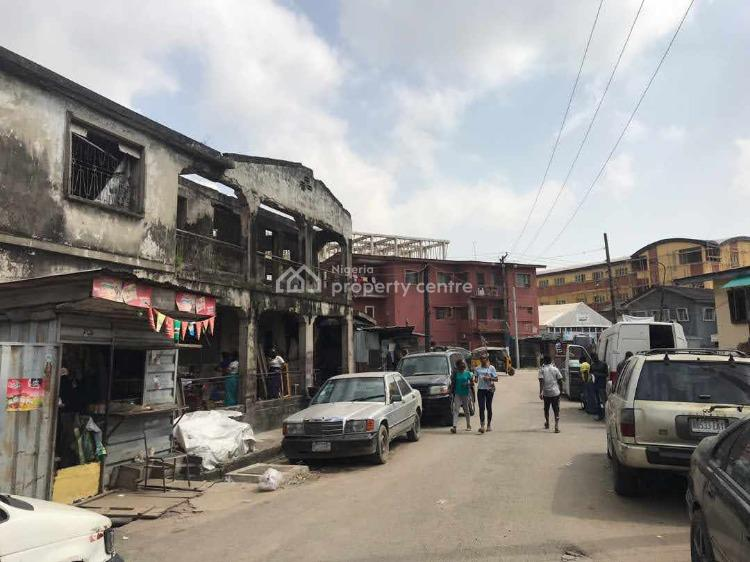 a Dilapidated Building on a Corner Piece, Onike, Onike, Yaba, Lagos, House for Sale