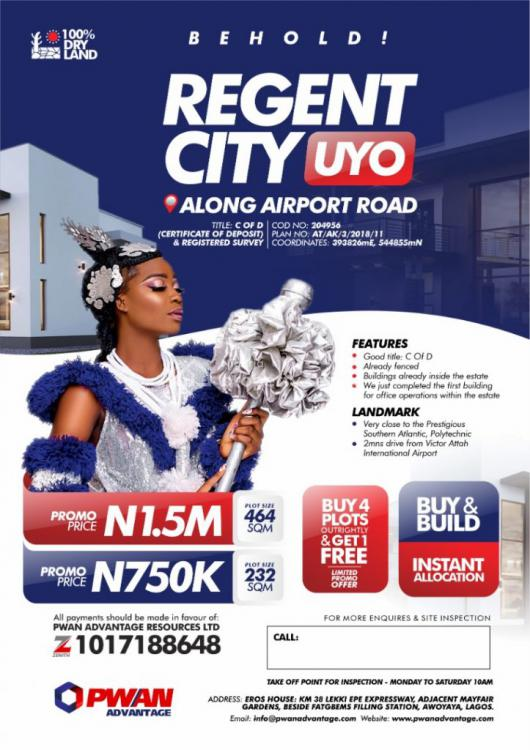 Certificate of Deposit and Registered Survey, Regent City, Uyo, Akwa Ibom, Mixed-use Land for Sale