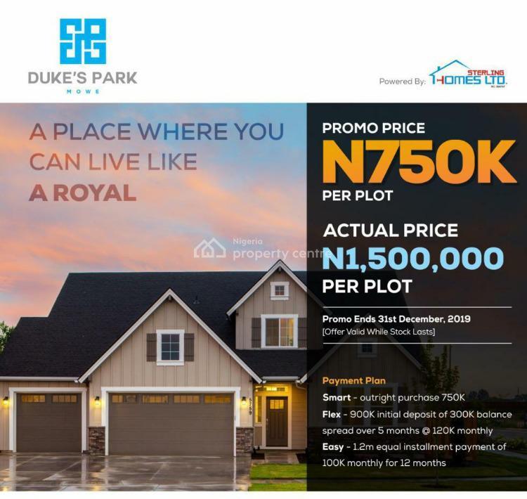 Lands with Higher Return on Investments, Dukes Park, Mowe Ofada, Ogun, Land for Sale