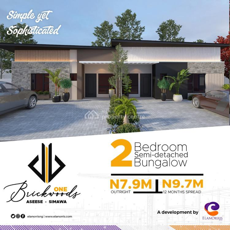 Luxury Semi-detached 2 Bedroom Bungalow, Asese-simawa, Asese, Ibafo, Ogun, Semi-detached Bungalow for Sale