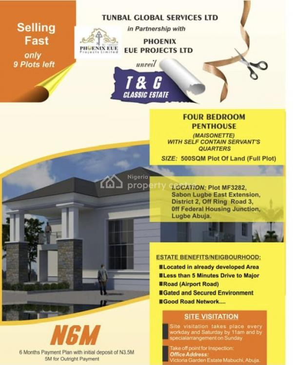550/500sqm Residential Land in a Serene Environment, Off Federal Housing Junction, Lugbe District, Abuja, Residential Land for Sale