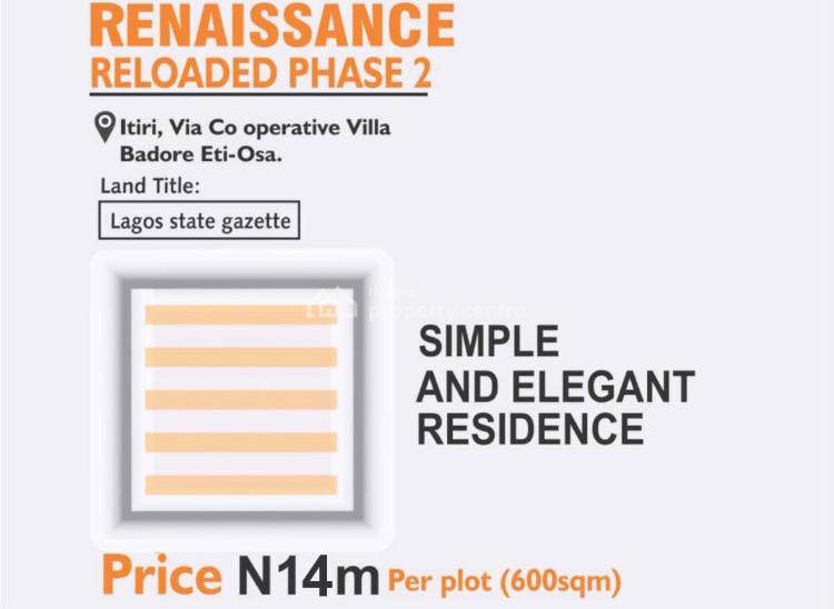 Gazette Estate Land, Badore Cooperative Villa Through Ado Road, Ajah, Lagos, Residential Land for Sale