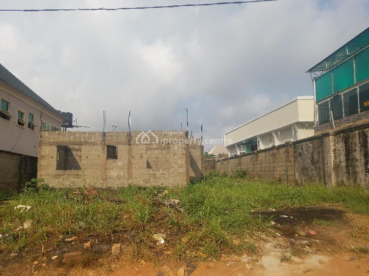 50 By 100 with a 4 Flat Building in Progress, Off Okpanam Road, Asaba, Delta, Residential Land for Sale