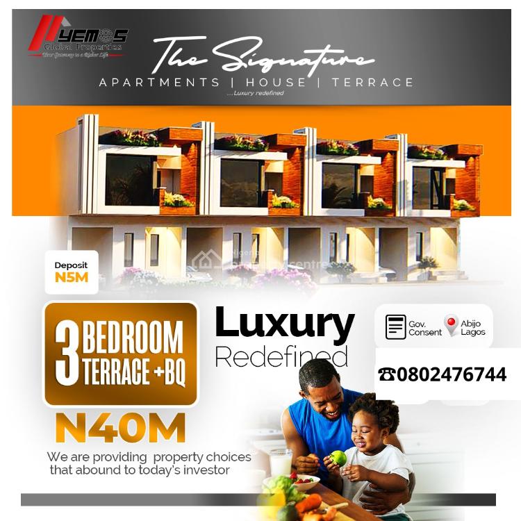 The Signature 3 Bedroom Terrace + Bq, Opposite Corona International School, Ajah, Lagos, Terraced Duplex for Sale