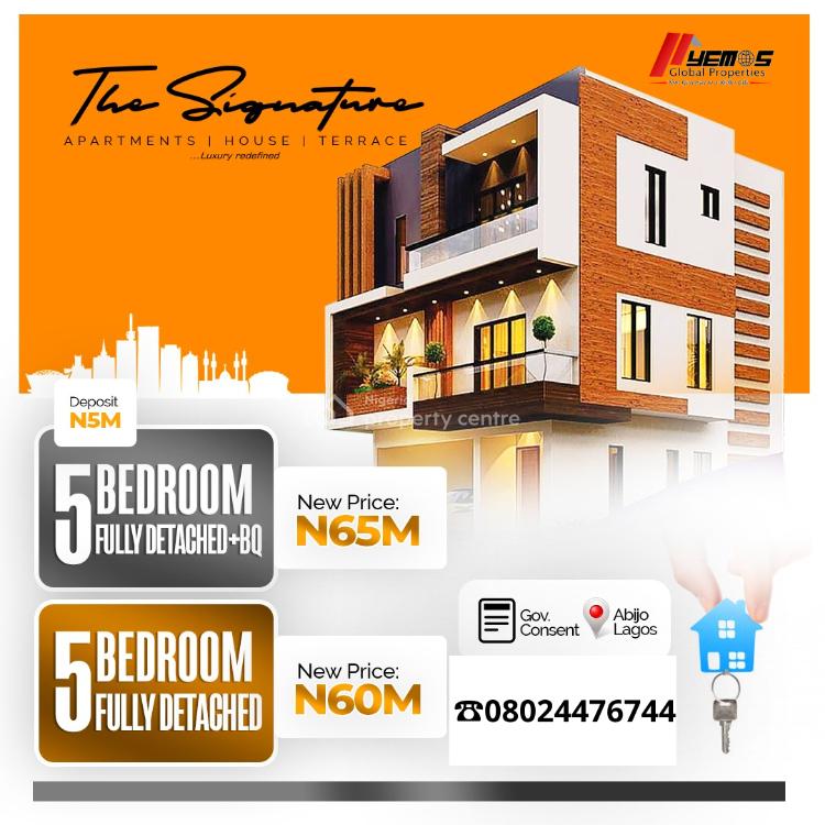 The Signature 5 Bedroom Fully Detached + Bq, Opposite Corona International School, Ajah, Lagos, Detached Duplex for Sale