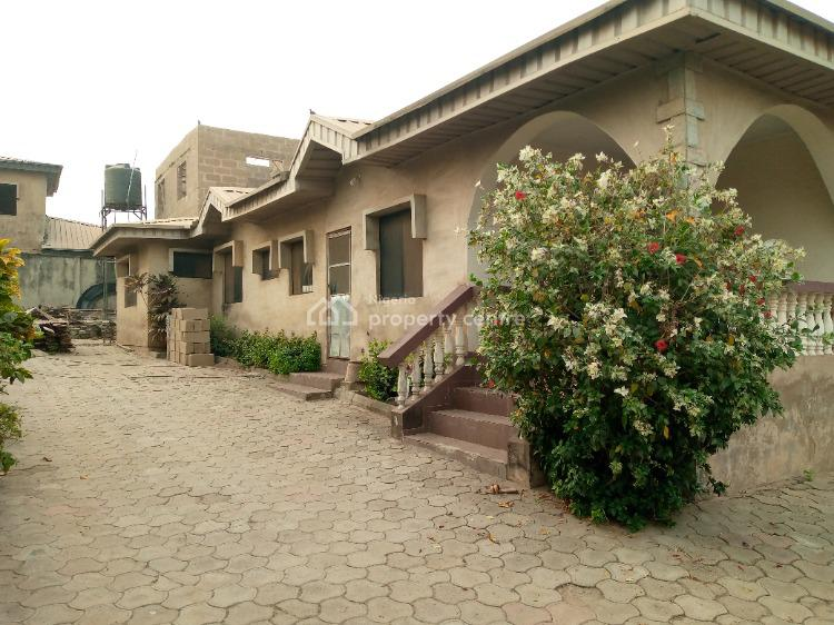 Strategic 4 Bedroom Bungalow with Uncompleted 2 Bedroom Duplex, Ifesowapo Estate, Behind Dstv Near Akala Express, Oluyole, Oyo, Detached Bungalow for Sale