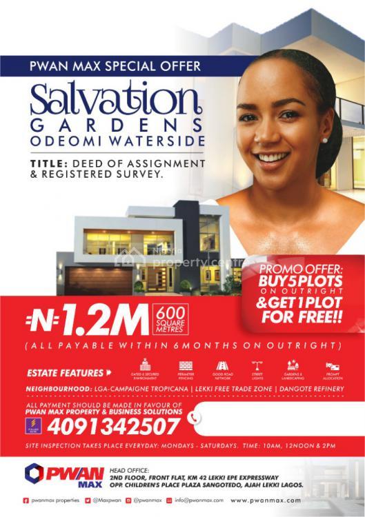Land, Salvation Gardens, Ode-omi Waterside, Ode Omi, Ibeju Lekki, Lagos, Mixed-use Land for Sale