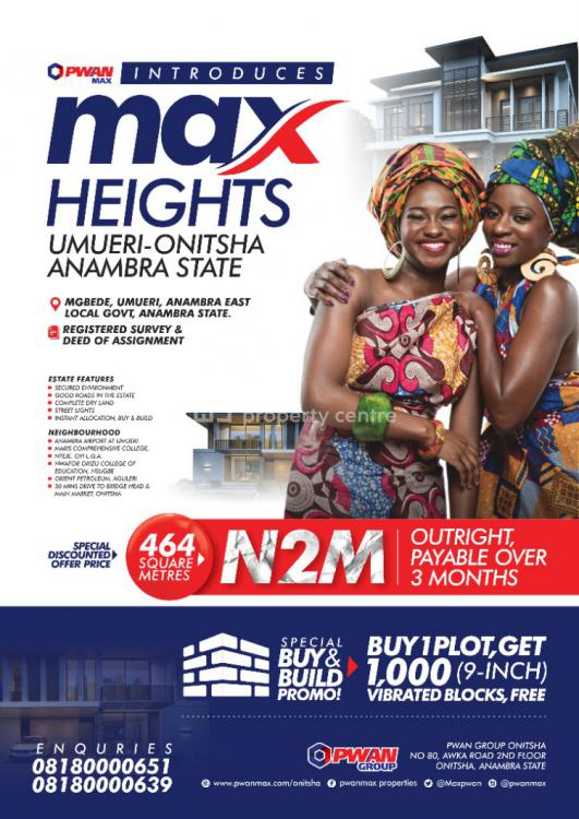 Land, Max Height, Mgbede Umueri, Onitsha, Anambra, Mixed-use Land for Sale