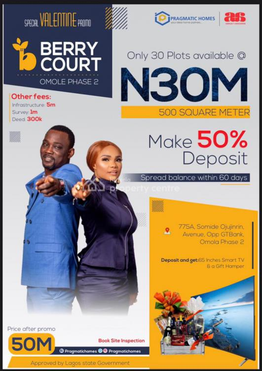 Berry Court, Omole Phase Ii Extension, Sharing Boundary with Magodo Phase Ii, Gra, Magodo, Lagos, Residential Land for Sale