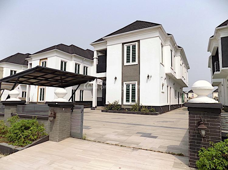 New House Large Compound Space 5 Bedroom Fully Detached Duplex with Bq, 2nd Toll Gate, Lekki, Lagos, Detached Duplex for Sale