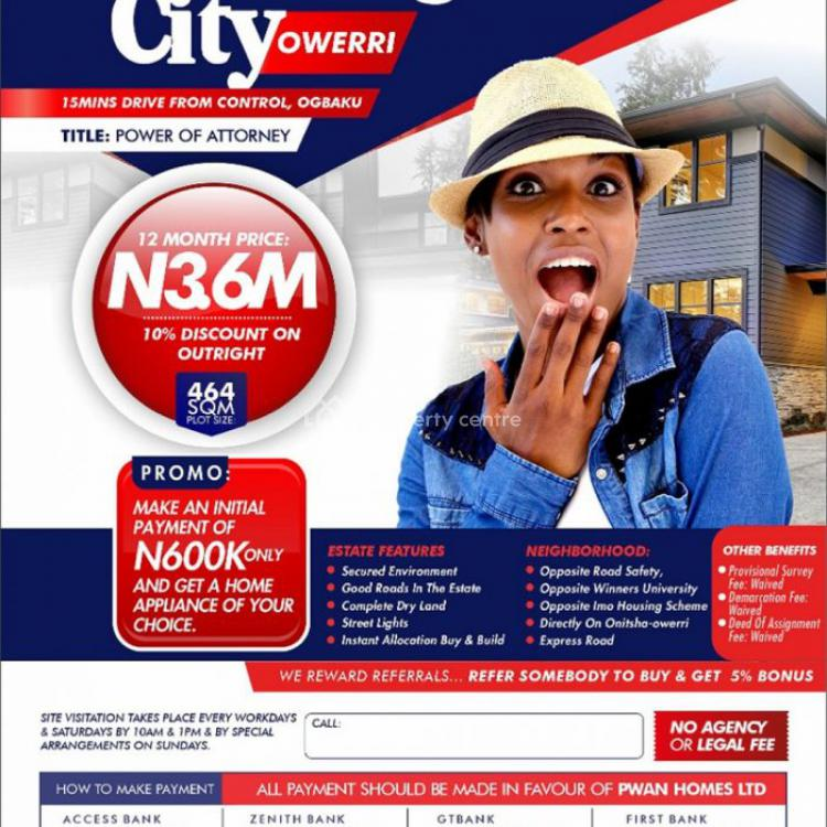Plots of Land, Flourish City, 15 Minutes Drive From Control, Ogbaku, Owerri Municipal, Imo, Residential Land for Sale