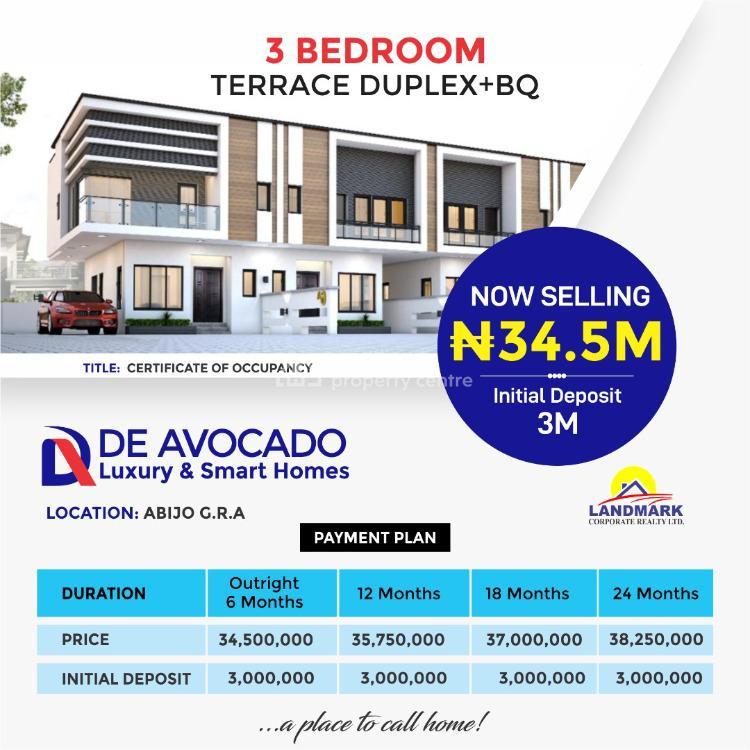 Luxury 3 Bedroom Terrace Duplex Plus Bq, Abijo Gra, Close to Novare Mall, Shoprite, Lekki, Lagos, Terraced Duplex for Sale