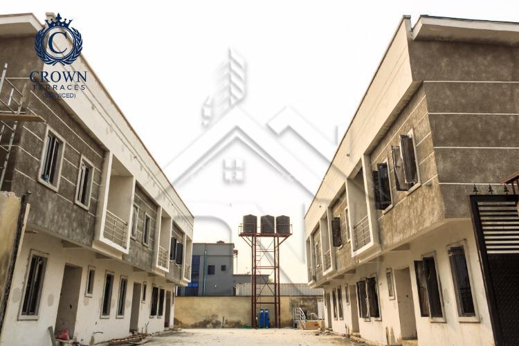 Fully Finished 4 Bedroom Terrace Duplex in Serene Estate, Crown Terraces Inside Vintage Estate,, Sangotedo, Ajah, Lagos, Terraced Duplex for Sale
