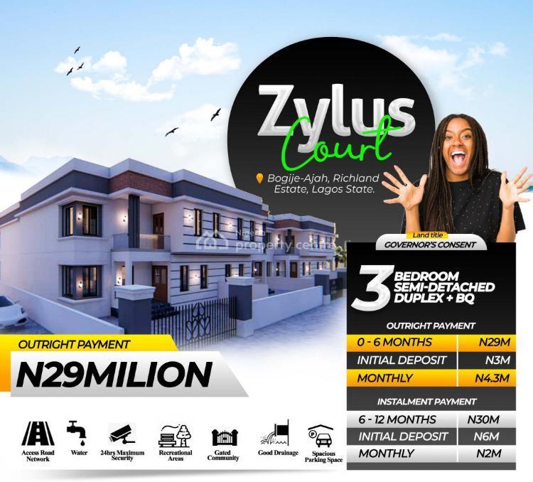 Semi-detached 3 Bedroom with a Standard Bq, Bogije, Ibeju Lekki, Lagos, Semi-detached Bungalow for Sale
