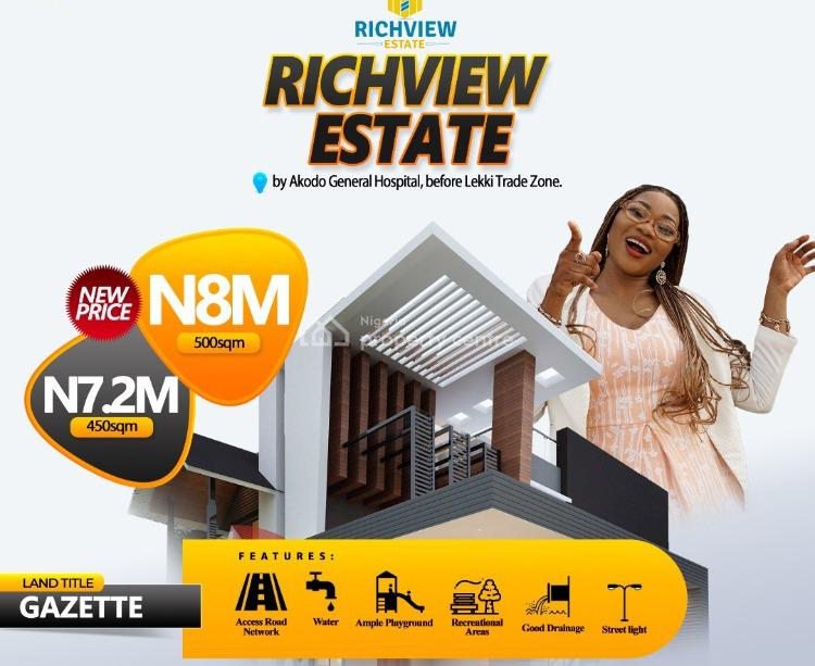 Land, Richview Estate, Akodo, Before Free Trade Zone, Ibeju Lekki, Lagos, Mixed-use Land for Sale