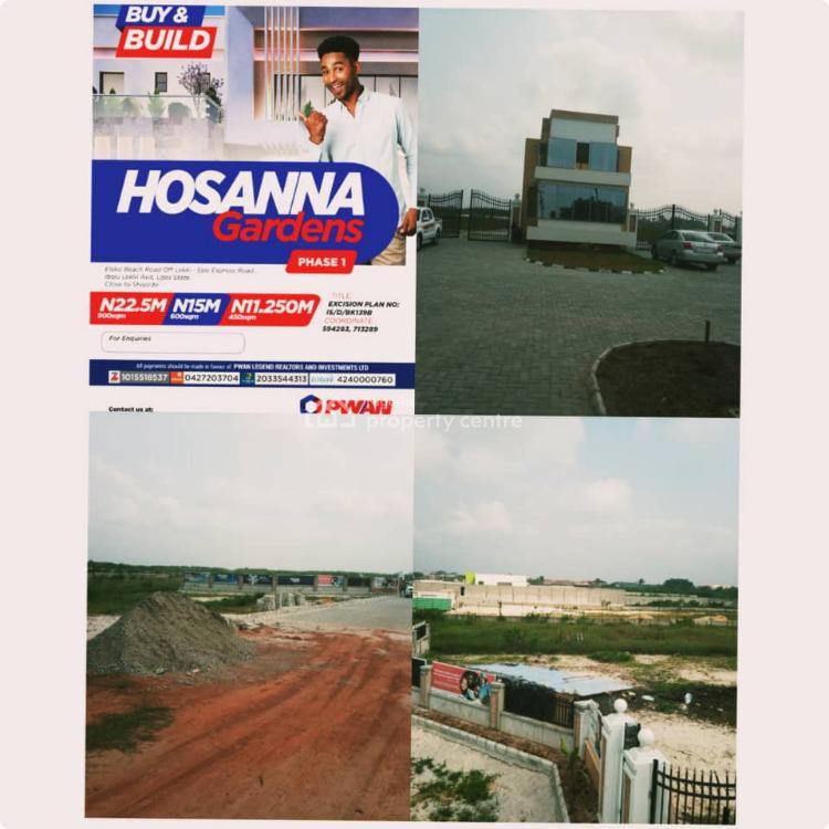 1 Plot of Land in a Cool and Serene Location, Hosanna Estate, Eleko, Ibeju Lekki, Lagos, Residential Land for Sale