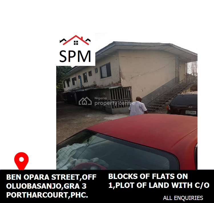 Blocks of Flats on 1 Plot of Land with C of O, Benjamin Opara Street,gra Phase 3, Off Olu Obasanjo Road, B4 Rccg King, Gra Phase 3, Port Harcourt, Rivers, Flat / Apartment for Sale