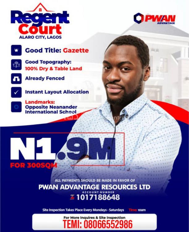 Land, Regent Court Estate, Alaro City, Lekki-epe Expressway, Ibeju Lekki, Lagos, Mixed-use Land for Sale