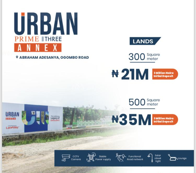 C of O Titled Dry Land, Abraham Adesanya, Ajah, Lagos, Residential Land for Sale
