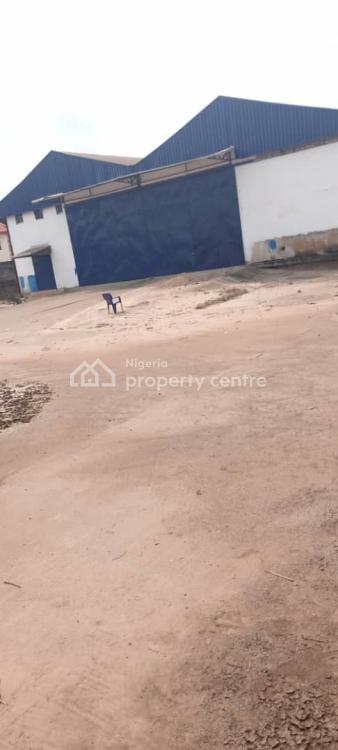 2 Bare Warehouse on 1 Acre of Land, Along Ogunis Road, Ojodu, Lagos, Warehouse for Sale