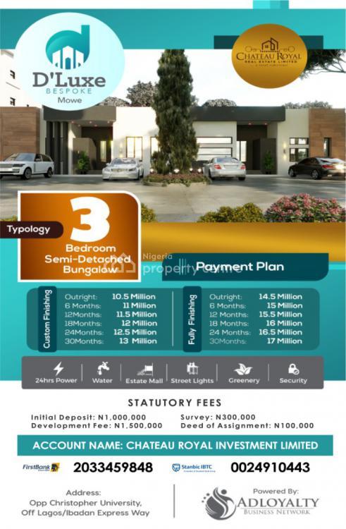 Dluxe Bespoke Residence, Opposite Christopher University, Mowe,dluxe Bedspoke Residence, Mowe Ofada, Ogun, Semi-detached Bungalow for Sale