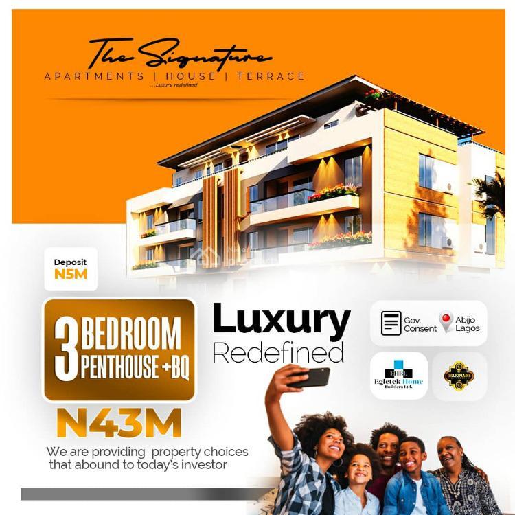 3 Bedroom Luxury Penthouse with Bq, Sunday Ejiofor Street, Green Park Scheme Opposite Corona Sc, Abijo, Lekki, Lagos, House for Sale