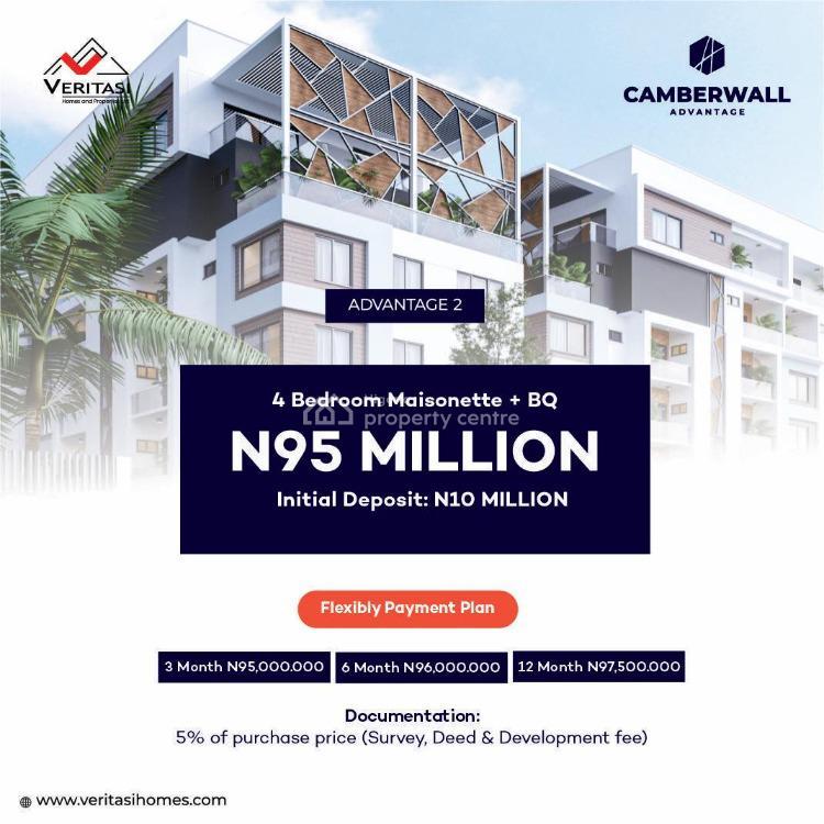 4 Bedrooms Maisonette Plus Bq, Ikate, Lekki, Lagos, Flat / Apartment for Sale